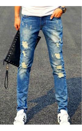 jeans-uomo-strappato-fit-casual